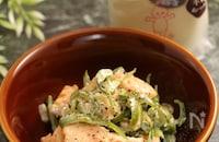 レンジで簡単!銀鮭ピーマンの燻製ナムル