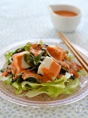 和風生トマトドレッシング・豆腐サラダ