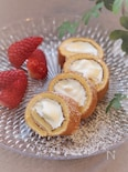 卵焼き器で作る プチロールケーキ