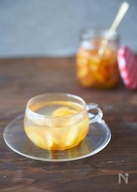 『【切って漬けるだけ】はちみつ金柑茶』