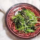 減らない水菜はこう!「水菜とワカメの無限ナムル」
