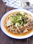 コスパ&満足感最強♡豚こま肉と豆腐のトロリ中華もやしあんかけ