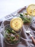 アスパラガスと魚肉ソーセージのパスタ風レモンサラダ♪