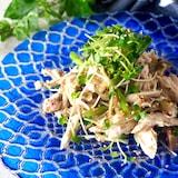 【レンジで2分蒸し鶏】鶏ささみとザーサイのピリ辛中華風