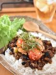 夏野菜と辛子明太子のドライカレー