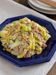 キャベツの肉味噌炒め。包丁不要で簡単♪ご飯が進む中華おかず!
