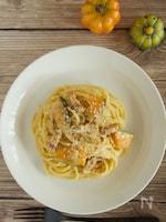 かぼちゃの豆乳カルボナーラ