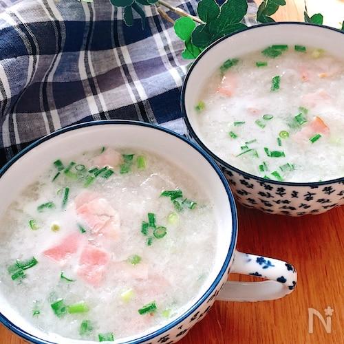 驚くほど美味・新食感♡トゥルトゥル長芋とベーコンのスープ