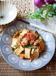 『スタミナ満点』厚揚げと豚肉のキムチ炒め