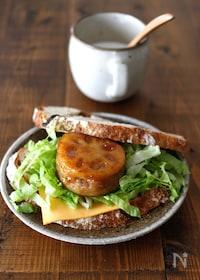 『照り焼きチーズ蓮根サンド』