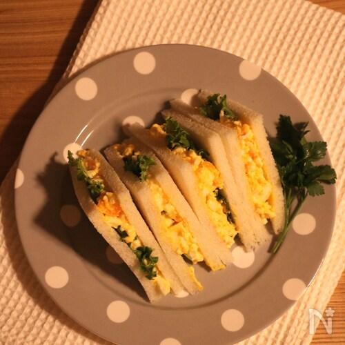 【定番】ゆで卵の卵サンド