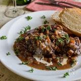 炊飯器で牛スネ肉のミラノ風赤ワイン煮込み