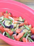 シリコンスチーマーで簡単!ナスとトマトのマリネ