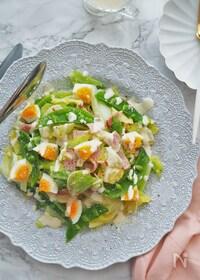 『レンチンで一発♪春の温野菜サラダ』