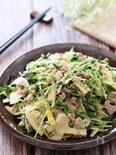 筍料理の定番にしたい♡筍と豆苗とひき肉の中華炒め
