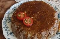 【レンジでソースまで作る】チーズinハンバーグケーキ