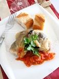 鶏肉の黒オリーブグリル トマトソース