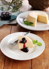 『電子レンジで作る!簡単チーズケーキ』