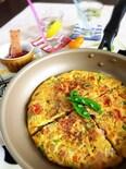 春野菜の彩りスパニッシュオムレツ