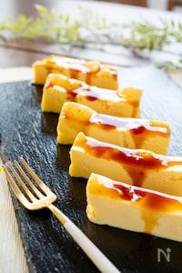 電子レンジで3分!簡単バスクチーズケーキ