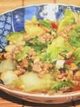 パッパッとご飯♪白菜と挽肉のピリ甘辛炒め