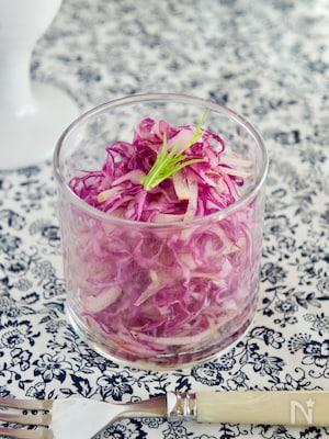 作り置きOK!紫キャベツとりんごのサラダ