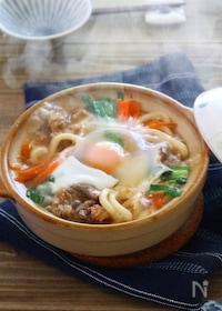 『【ごちそううどん】チョンゴル(韓国すき焼き)煮込みうどん』