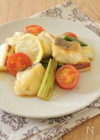 『白身魚と長ねぎのレモン醤油炒め』