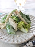スナップえんどうと鶏肉のバジル風味サラダ