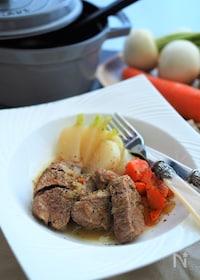 『簡単!根菜と豚肉のホロホロ煮込み』