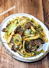 『太麺で作る「牛肉焼うどん」』