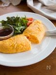 『基本のふわふわプレーンオムレツ』#朝ごはん#洋食