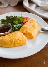 『『基本のふわふわプレーンオムレツ』#朝ごはん#洋食』