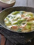 *青梗菜とハムのクリーム煮*
