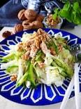 【主菜になる白菜】シャキシャキ白菜と鶏肉の胡桃ごま風味サラダ