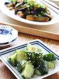 【時短】調理時間5分で完成~!たたききゅうりの塩麴ナムル