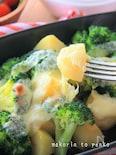 レンジ&トースターで♪ブロッコリーポテトのガリバタチーズ焼き