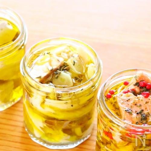手作りツナの作り方でとサーモンと塩サバのオイル漬けのレシピ