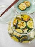 【簡単&作り置き常備菜】ズッキーニのニンニクオイル漬け