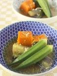 圧力鍋で一瞬加圧!夏野菜のそぼろ煮 冷やしてもおいしい