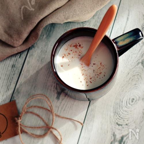 心も体もリラックス♥HOTな甘酒ミルク