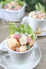 カニかま入り・ポリポリたまごサラダ。