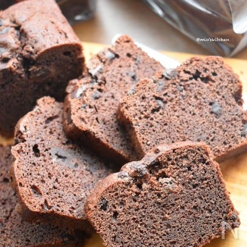 チョコ好きさん必見♡チョコチップたっぷりなパウンドケーキ♡
