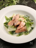 銀鮭とキャベツのクリームソテー