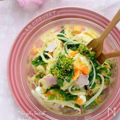 菜の花のポテトサラダ(マヨなし)