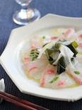 真鯛の桜カルパッチョ