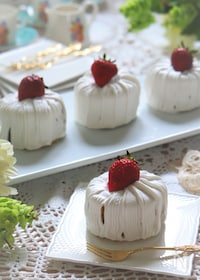 『ローカーボのイチゴのロールショートケーキ』