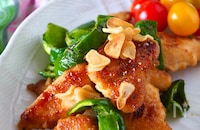 【鶏むね肉のスタミナにんにくマヨ炒め】ガッツリも男子も大満足