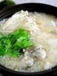 牡蠣と豆腐のみぞれ鍋