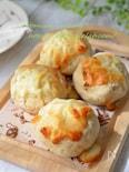 【米粉でお手軽パン♬】米粉と豆腐のツナチーズパン